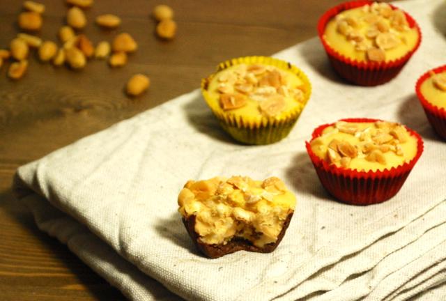 Erdnussbutter-Schoko-Crunch-Cups